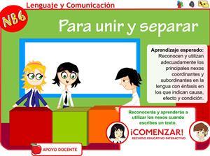Repasa las conjunciones coordinadas y subordinadas. Educarchile