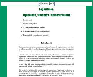 Equacions Logarítmiques
