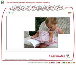 Puzzles básicos. Juego on-line para Educación Infantil