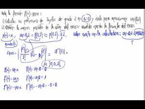 Error en polinomio de Taylor