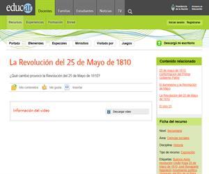 La Revolución del 25 de Mayo de 1810