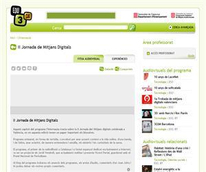 II Jornada de Mitjans Digitals (Edu3.cat)