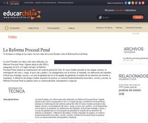 La Reforma Procesal Penal (Educarchile)