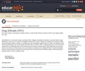 Edwards Valdés, Jorge (1931) (Educarchile)