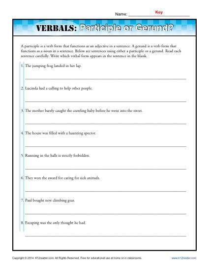 Verbals: Participle or Gerund?