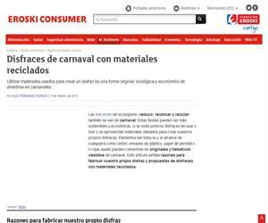 Disfraces de carnaval con materiales reciclados (Consumer)