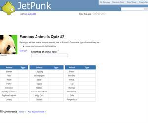Famous Animals Quiz 2
