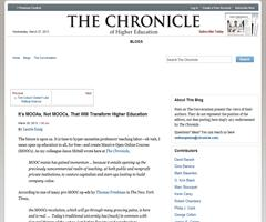 It's MOOAs, Not MOOCs, That Will Transform Higher Education | The Chronicle of Higher Education