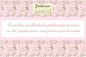 SECUENCIACIÓN ORTOGRÁFICA. LAS REGLAS DE LA B. LAS PALABRAS TERMINADAS EN -BIR