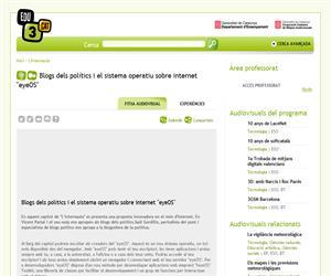 Blocs dels polítics i el sistema operatiu sobre internet 'eyeOS' (Edu3.cat)
