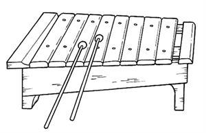 Instrumentos musicales para imprimir y colorear (midisegni.it)