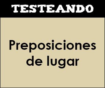 Preposiciones de lugar. 2º Primaria - Inglés (Testeando)