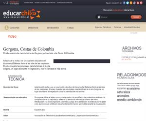 Gorgona, Costas de Colombia (Educarchile)