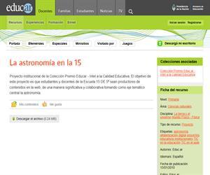 La astronomía en la 15