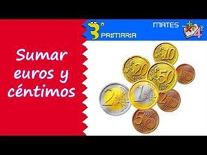 El euro, nuestra moneda. Sumas con euros y céntimos. Editorial Anaya