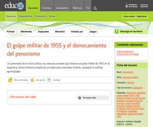 El golpe militar de 1955 y el derrocamiento del peronismo