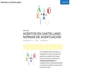 Reglas de acentuación en castellano