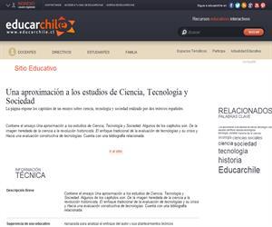 (sitio)Una aproximación a los estudios de Ciencia, Tecnología y Sociedad (Educarchile)