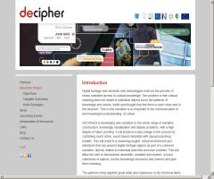 Decipher, a solution for digital heritage that works with semantic web technologies
