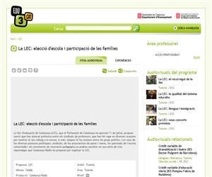 La LEC: elecció d'escola i participació de les famílies (Edu3.cat)