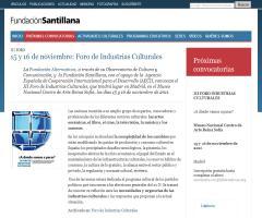 Foro de Industrias Culturales, 15 y 16 de noviembre 2011  (Fundación Santillana y Fundación Alternativas)