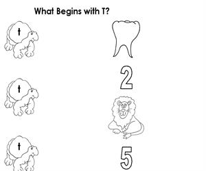 Activity Sheet - Draw a line to T (Educarchile)