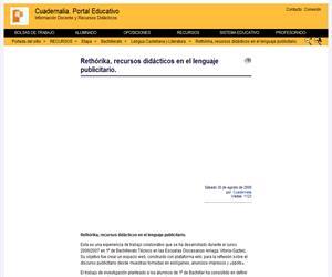 Rethórika, recursos didácticos en el lenguaje publicitario