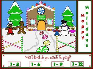 Gingerbread Holiday Fun - Division Game. Divisiones navideñas