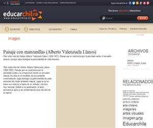 Paisaje con manzanillas (Alberto Valenzuela Llanos) (Educarchile)