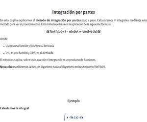 Método de integración por partes