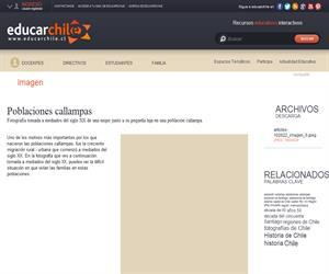 Poblaciones callampas (Educarchile)