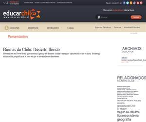 Biomas de Chile: Desierto florido (Educarchile)