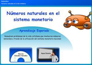 Números naturales en el sistema monetario