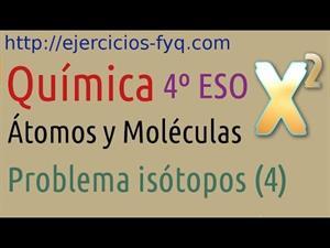 Problema de Isótopos: abundancias relativas a partir de masa atómica. Cibermatex