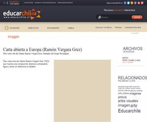 Carta abierta a Europa (Ramón Vergara Grez) (Educarchile)
