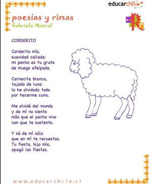 Gabriela Mistral. Corderito (Educarchile)