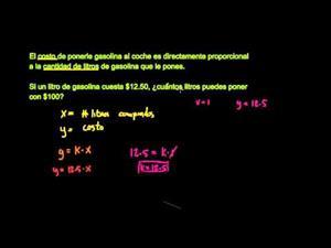 Variación directa - parte 1 (Khan Academy Español)