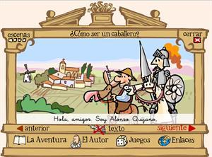 Don Quijote y la aventura de los molinos
