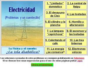 Problemas de Electricidad para Educación Secundaria