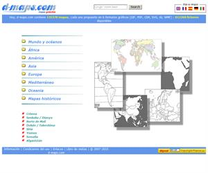 d-maps.com, mapas mudos