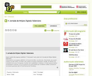 II Jornada de Mitjans Digitals Valencians (Edu3.cat)