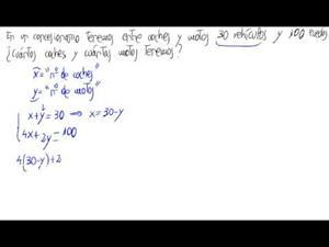 Problema de sistemas de ecuaciones lineales