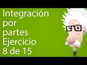 Integración por partes. Ejercicio 8 de 15 (Tareas Plus)