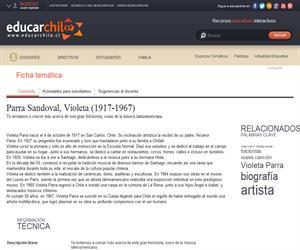 Parra Sandoval, Violeta (1917-1967) (Educarchile)
