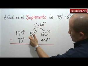 Hallar el suplemento de un ángulo (JulioProfe)