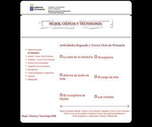Lengua y Matemáticas, en 'Mujer ciencia y tecnología' (Gobierno de Canarias)