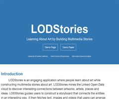 LODStories: Learning About Art by Building Multimedia Stories