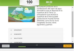 Test interactivo del ciclo del agua