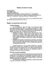 Resumen: Redes sociales en clase Juan José de Haro.