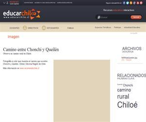 Camino entre Chonchi y Queilén (Educarchile)